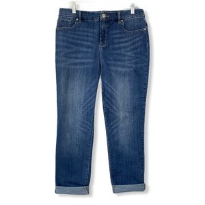 Chico's NEW So Slimming Girlfriend Ankle Jeans 8